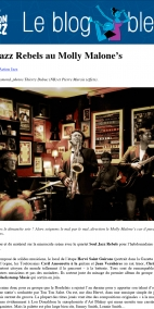 Soul Jazz Rebels au Molly Malone's